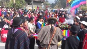 agosto 2015, marcia dei popoli indigeni dell'Ecuador