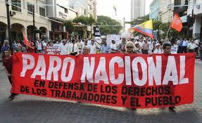 Sciopero nazionale a Quito, 13 agosto 2015