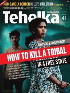 La cpertina di Tehelka sulle rivelazioni di Soni Sori, ottobre 2011
