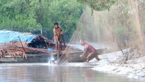 Pescatori nel Sundarbans