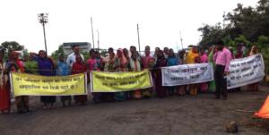 La protesta di Tamnar contro le miniere di carbone