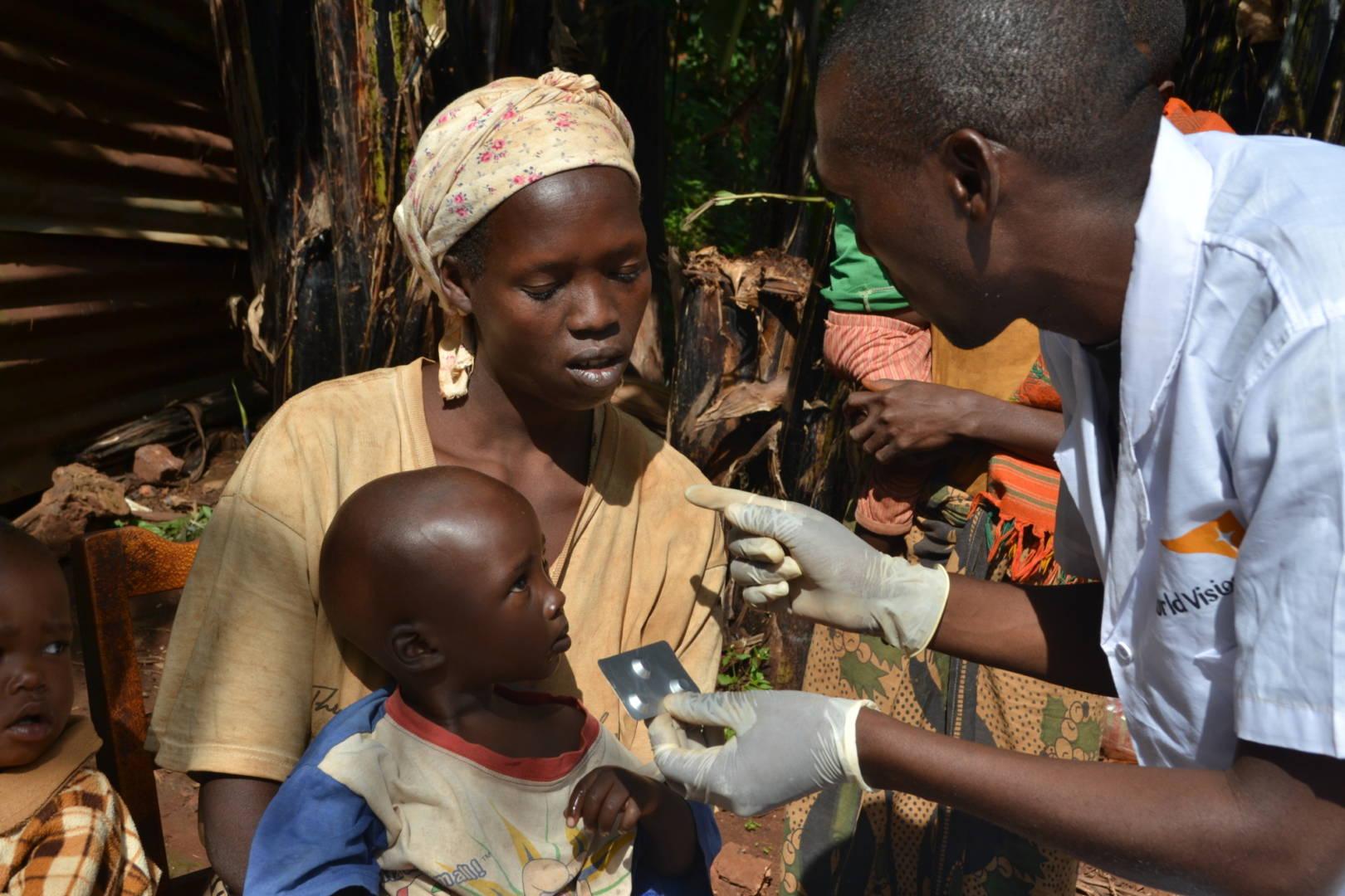 Diagnosi malarica in un villagio del Burundi